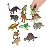 "Dozen 12 Piece ASSORTED DINOSAURS Play Figures Cake Topper - Toys 5 - 7"" Large Size Dinosaur Set - Amazon Exclusive..."