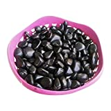 Stone Art Artificial Marble Pebbles (1 Kg, Black)