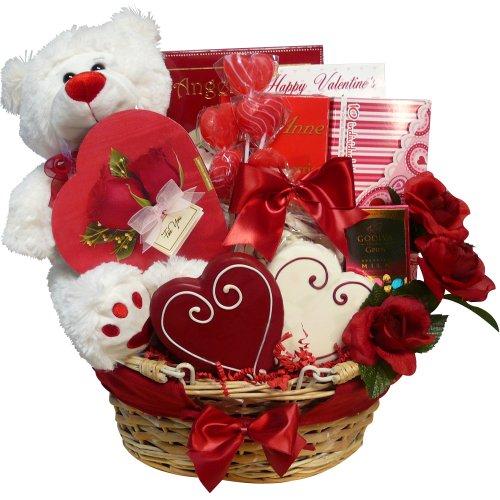 Schön Of Appreciation Gift Baskets Valentines Treasures Basket With Teddy Bear
