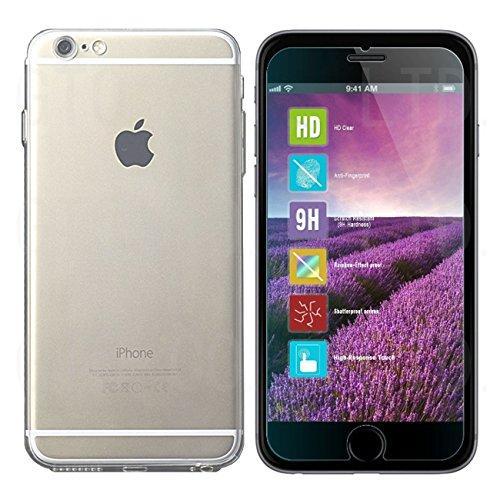 【ガラスフィルム&TPUケース】【GTO】2015 apple iphone 6s/6 両対応型 4.7inch 強化ガラス液晶保護フィルム&高品質TPUクリアケース 2015 apple iphone 6s/6 強化ガラス液晶保護フィルム 国産旭ガラス採用 強化ガラス液晶保護フィルム ガラスフィルム耐指紋 撥油性 表面硬度 厚さ0.33mm 2.5D 硬度9H ラウンドエッジ加工iphone6s ケース iphone6s カバー iphone6 ケース iphone6 カバー