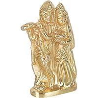 FRIENDS METAL PRODUCTS Zinc Lord Radha Krishna Idol (2 Cm X 3 Cm X 6 Cm, Golden)