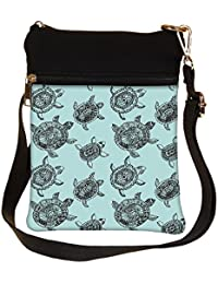 Snoogg Seamless Pattern With Turtles Seamless Pattern Can Be Used For Wallpaper Cross Body Tote Bag / Shoulder...