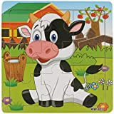 GOTD Wooden Dairy Cow Jigsaw Toys For Kids Education And Learning Puzzles Toys