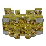 Sunpet Transperant PET Jar Set No. FR111720-24 Set Of 24