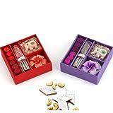 Ghasitaram Gifts Diwali Gifts - Set Of 2 Incense Sets With 200 Gms Kaju Katli