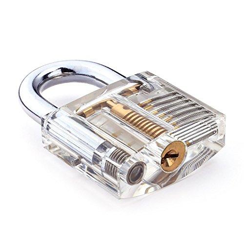 G2PLUS Transparents Schloss Schlössern Vorhängeschlösser Übungsschloss mit 2 Stabilen Schlüsseln für Schlosser Anfänger - 4