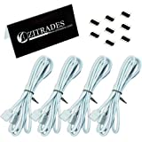 ZITRADES(TM) 4PCS 2M Long Extension Cable Connect Female Plug For RGB 3528 5050 Strip With 8pcs 4pin Connectors...