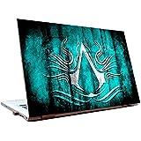 Tamatina Laptop Skins 15.6 Inch - Assassins Creed - Syambol - Blue - Gaming Skin - HD Quality - Dell-Lenovo-HP-Acer