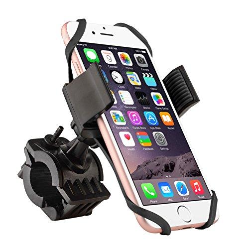 Insten Universal Bicycle Motorcycle MTB Bike Handlebar Mount Phone Holder Cradle W/ Secure Grip For iPhone 7/ 7 Plus/ 6S/ 6S Plus, Galaxy On5/ S7 Edge/ S7,LG Nexus 5/V10,LG G5;HTC One, Black