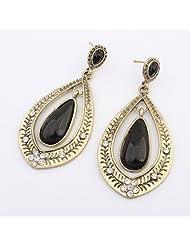 Ashiana Black Antique Drop Dangling Earring