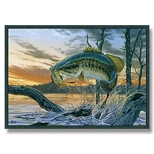 Strike King Bass Wildlife Rug