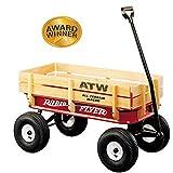 All Terrain Steel & Wood Wagon Ride On, Wagon For Kids