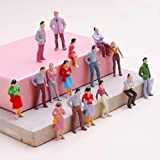 SODIAL(R)100pcs Painted Model Train People Figures Scale O (1 to 50)