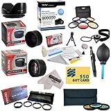 25 Piece Advanced Lens Package For The Olympus E-620, E-610, E-520, E-510, E-500, E-450, E-420, E-410, E-5, E-...
