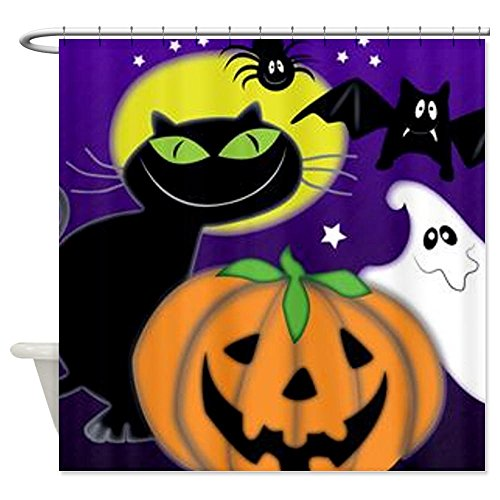 Halloween Scene Shower Curtain - Standard White