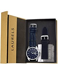 Laurels Invictus 8 Analog Blue Dail Men's Watch With Additional Strap ( Lo-Inc-803s)