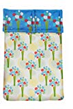 Amk home decor cotton Double bedsheet with 2 pillow cover