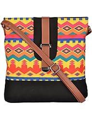 All Things Sundar Women's Sling Bag (Multi-Coloured, S14-70)
