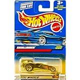 2000 - Mattel - Hot Wheels - Collector #227 - Skullrider - Black / Racing Graphics - Custom 5 Spoke