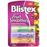 Blistex Fruit Smoothies 0.10-Ounce Tubes In 3-Count Packages (Pack Of 12)