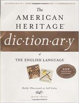 American Heritage Dictionary Pdf