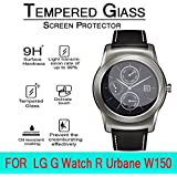 AnoKe LG Watch Urbane Smart Watch / LG-W150 Tempered Glass Front LCD Screen Protectors 9h Hardness, 2.15d Rounded...