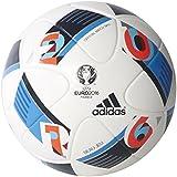 Adidas Performance Euro 16 Official Match Soccer Ball, White/Bright Blue/Night Indigo, 5, 5/White/Bright Blue/...