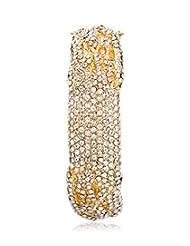Eclat Brass Gold Plated Bracelet For Women New Fashion Jewelry (1112107G)