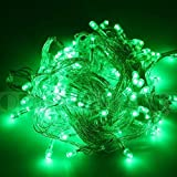 DODO 10M 100 LED String Fairy Light For Wedding Christmas And Party (Green With Tail Plug)