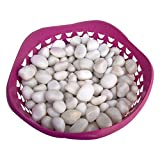 Stone Art Artificial Marble Pebbles (500 Gms, Sun White)