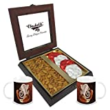Chocholik Premium Gifts - Unique Gift With Almonds & Belgium Chocolate Rocks With Diwali Special Coffee Mugs -...