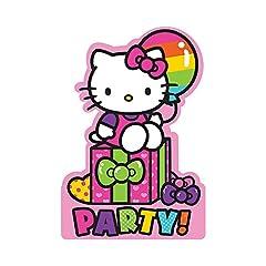 Amscan Hello Kitty Rainbow Postcard Invitations