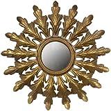 Creative Co-Op Metal Starburst Mirror, Gold By Creative Co-op