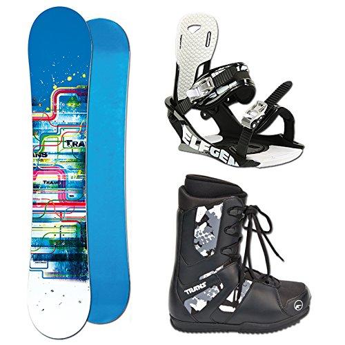 TRANS LTD 1 Snowboard SET Boy 115cm blue 2014 + Bindung Gr. XS/S + Boots