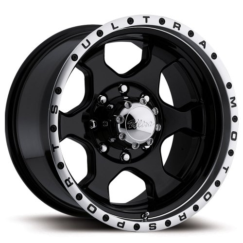 Ultra Rogue 16 Black Wheel / Rim 8×170 with a -6mm Offset and a 130 Hub Bore. Partnumber 175-6887B