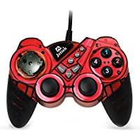Dual Shock Wired USB Gamepad Controller For PC With Gripped Joysticks Ergonomic Design Vibration Force Feedback...