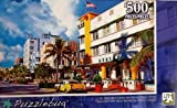 500 Piece Jigsaw Puzzle By Puzzlebug Art Deco Buildings on Ocean Drive, Miami, Florida!