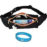 Adjustable Workout Outdoors Sport Running Belt Waist Fanny Pack Pouch Bag For Samsung Galaxy Mega 2 / Note 4 /...