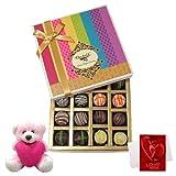 Smooth Sesame Truffles Treat With Teddy And Love Card - Chocholik Belgium Chocolates