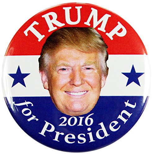 Trump and Clinton Halloween Costumes - Choose Edgy or Funny - 2016 DONALD TRUMP for PRESIDENT CAMPAIGN BUTTONS, 2.25