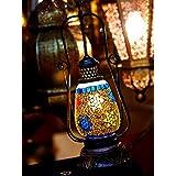 Handicraft Cafe Electric Table Lamp Lantern Multi Colour - B01DQYWGS0
