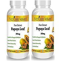 Natures Velvet Combo Of Papaya Leaf Extract( 500mg), 60 Veg Capsules