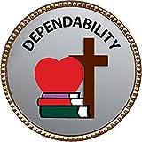 Keepsake Awards Dependability Gold Award Pin