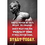Gym Posters    Gym Posters Big Size    Gym Posters Motivational    Gym Posters Large (A3 Size 12 In X 18 Inch) - B06XYLWWKF