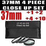 37mm DM Optics Macro Close Up Lens Kit 4 Piece (+1 +2 +4 +10) For The Sony Handycam HDR-CX360V HDR-CX550V HDR-CX570V...
