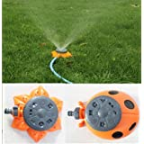 Generic Garden Tool 8 Functions Green Ladybug Shape Sprinkler For Garden Decoration Watering Flowers Plants Or...