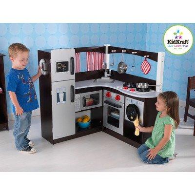 Charmant #1 Kidkraft Grand Espresso Corner Play Kitchen  $200