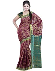 Mimosa Women's Traditional Art Silk Saree Kanchipuram Style, Color :Mejantha(3238-95-MEJ)