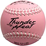 """Dudley Pink With White Stitching 12"""" Non-Association Thunder Heat Composite Fastpitch Softball - Pack Of 12, 12""""/"""