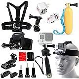 20-in-1 Set Of Selfie Stick Chest Head & Helmet Mount Accessories Kit Bundle For GoPro Hero 4 3 3+